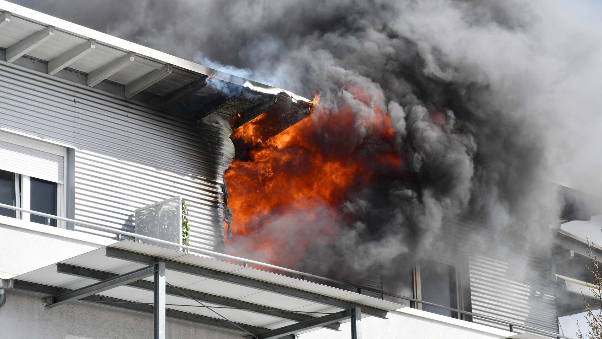 Gebäudebrand im Altersheim Bühl