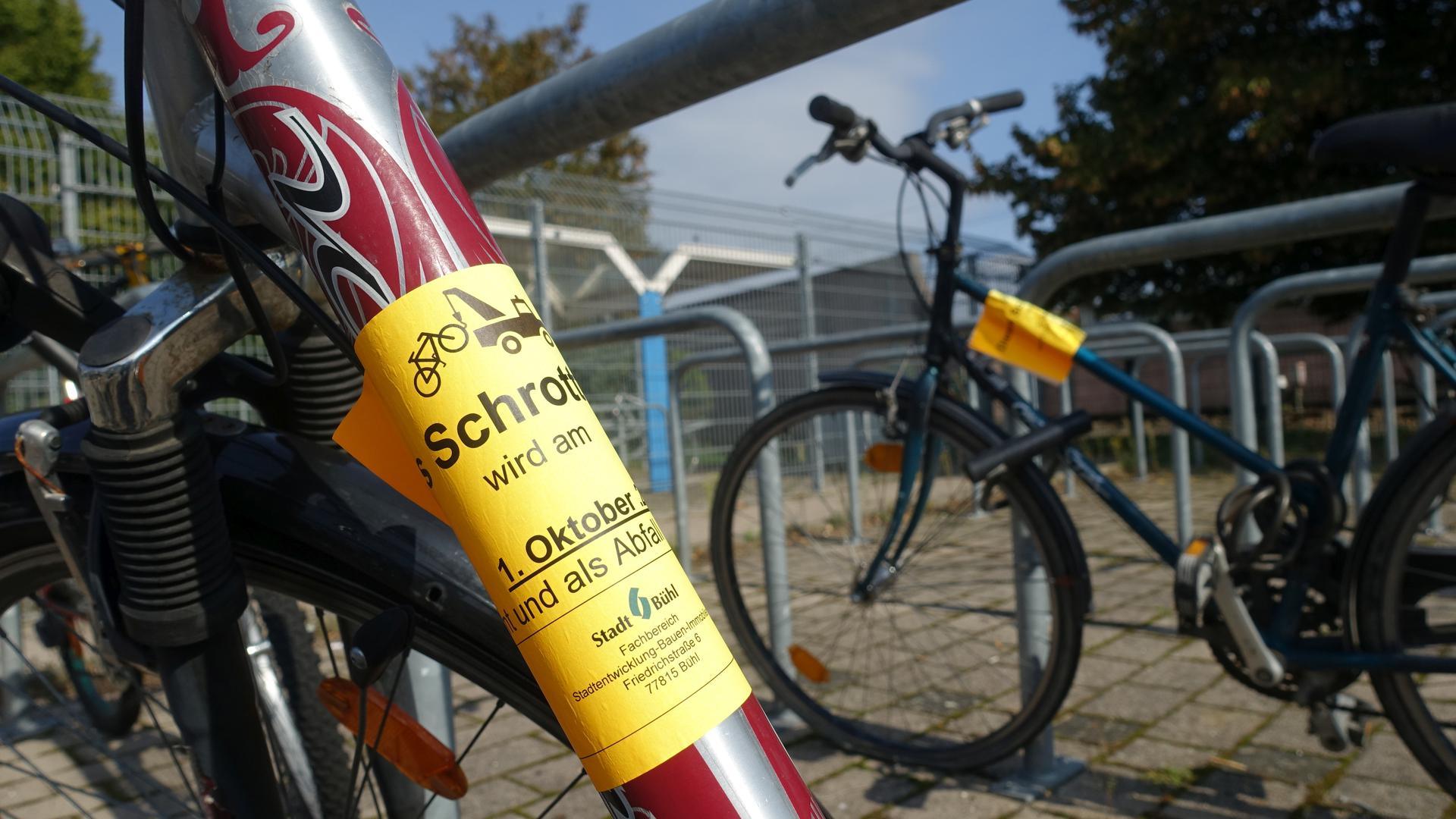 Fahrrad mit Aufkleber