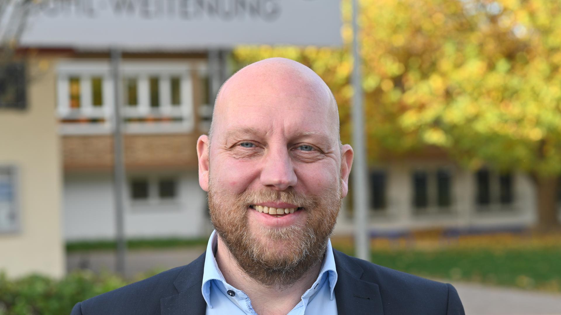Daniel Fritz ist Ortsvorsteher in Weitenung.