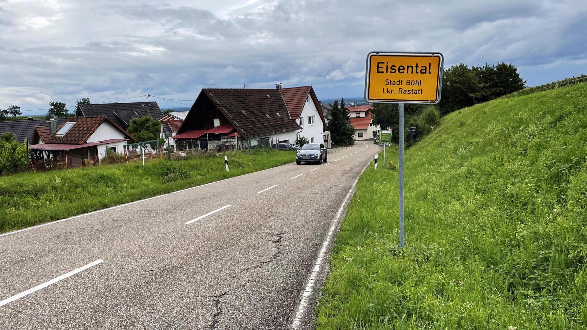 Eisentaler Ortsschild