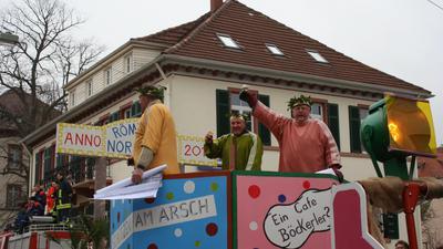 Fastnachtswagen in Bühl Alt-Hänferdorf Willi Berdon