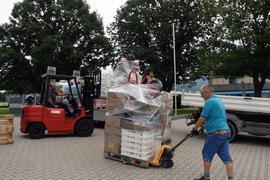 Hilfsgüteraktion für Katastrophengebiet
