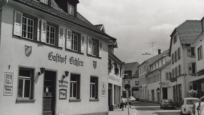 Alte Aufnahme des Ochsen in Bühl