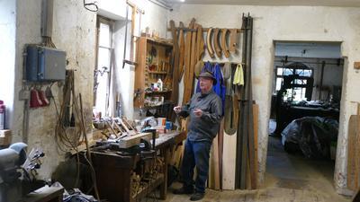 Die Werkstatt des Wagners: Werner Ibachs Großvater hat sie einst eingerichtet. Zuvor hatte hier ein Schmied seinen Arbeitsplatz gehabt.