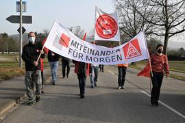 Demonstration von Angestellten von Schaeffler in Bühl