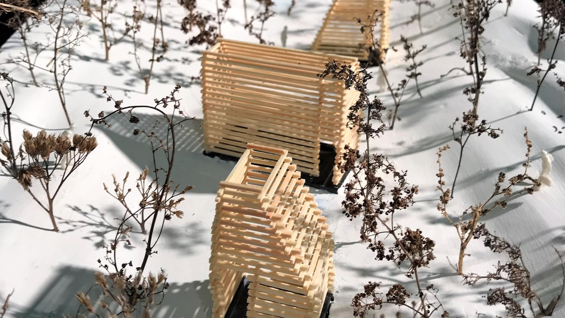 In seiner Masterarbeit hat Johannes Bäuerle die Idee für 16 kleine Stationen für die Schwarzwaldhochstraße entwickelt. Vier hat er exemplarisch ausgearbeitet. Eine ist ein Waldbad beim Plättig.