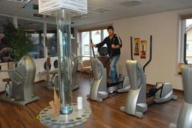Stefan Pfetzer im Fitline in Bühl. Momentan trainiert dort nur er selbst.