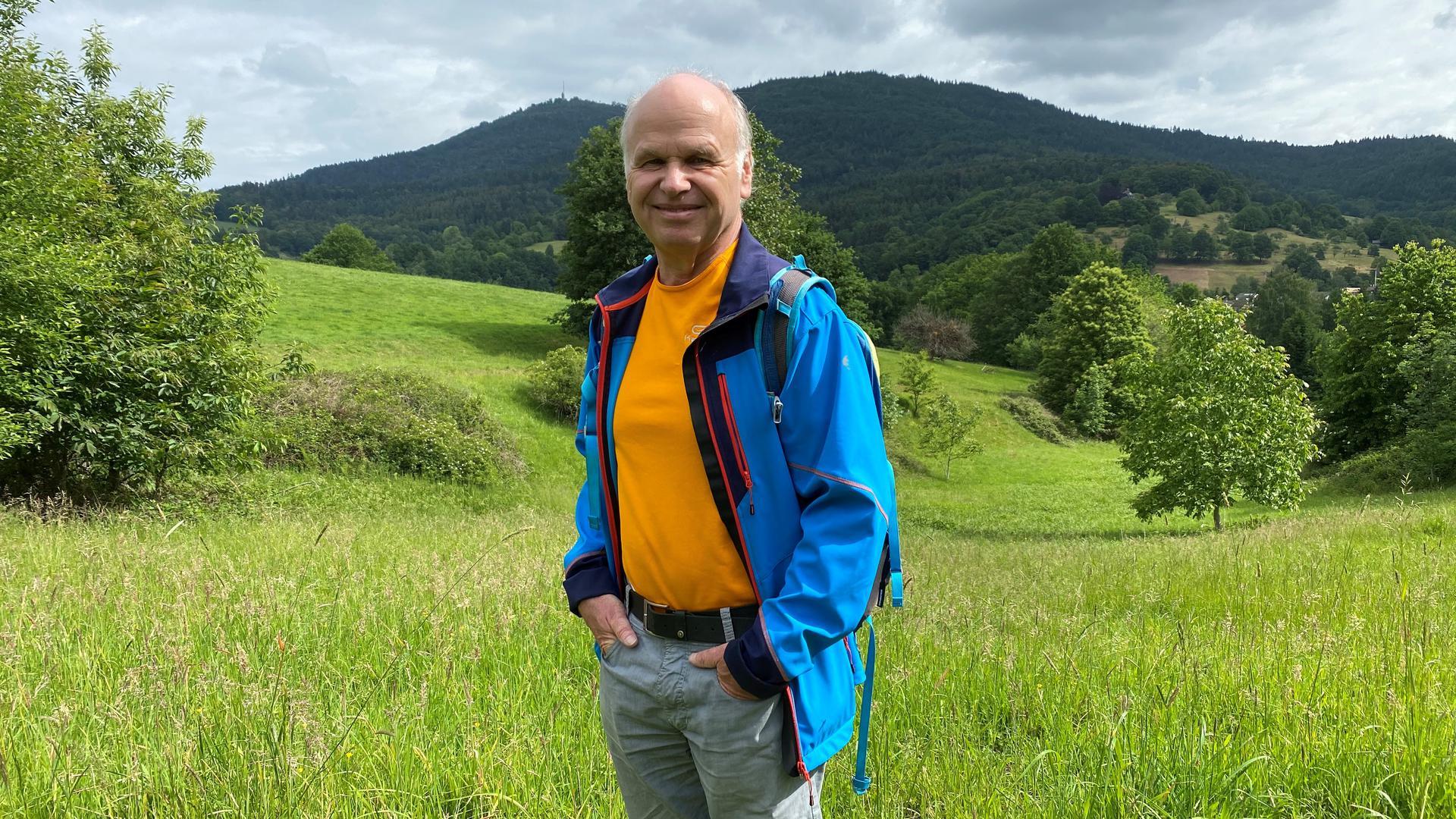 Abwechslungsreiche Wege: Herbert Kretz geht gerne auf der dritten Etappe.
