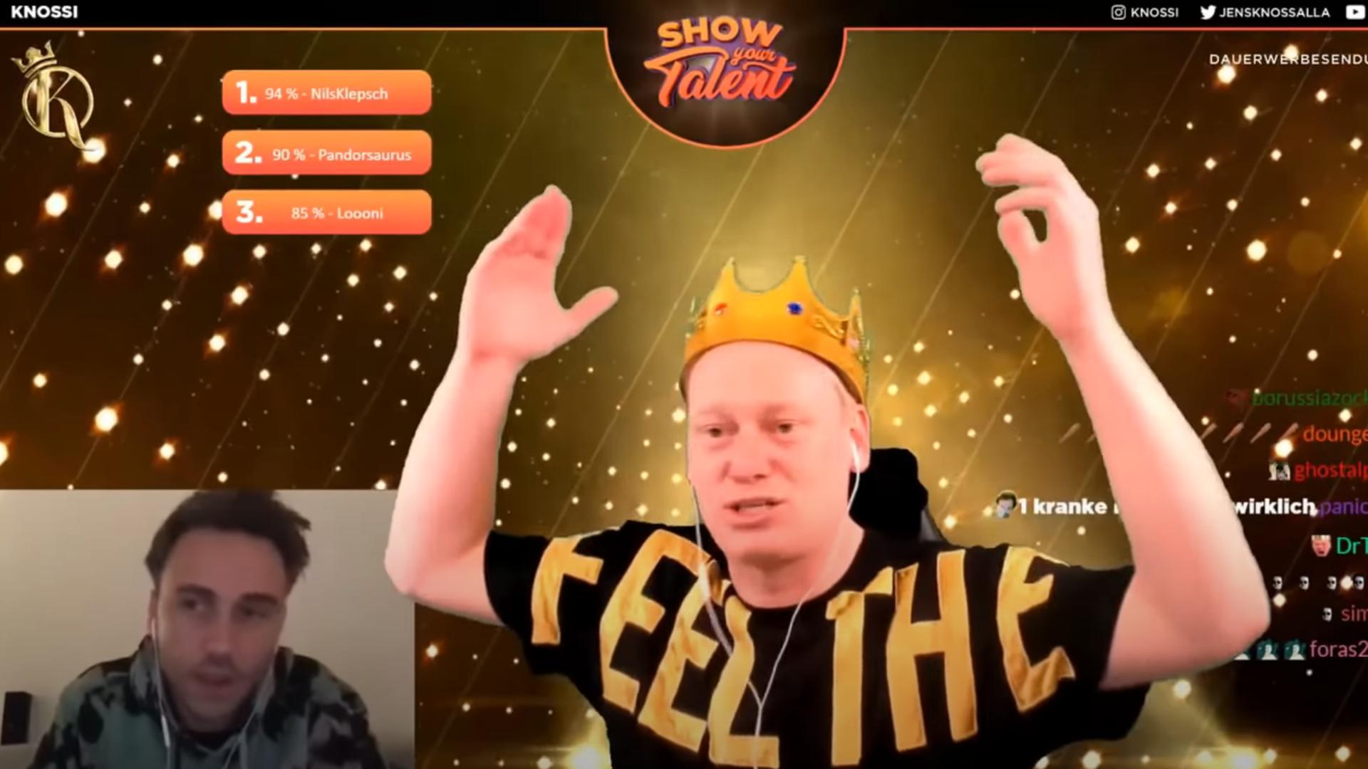 """King Knossi und Clueso beim Livestream von """"Show your Talent"""""""