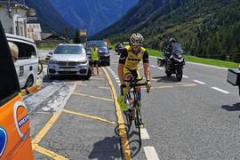 Mann auf Rennrad