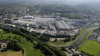 Luftbild des Mercedes-Benz Werks Gaggenau