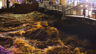 Hochwasser Gernsbach Januar 2018