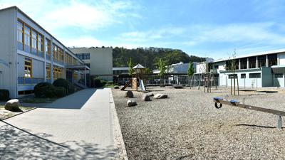 Merkurschule Gaggenau Schulhof 16.04.2020