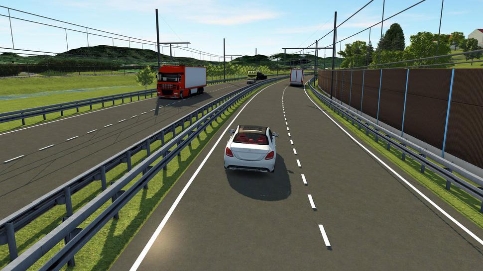eWayBW Murgtal Testversuch Oberleitungs-Lkw Visualisierung Verkehrsministerium