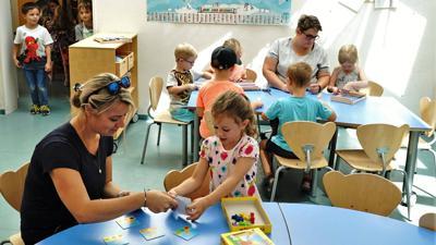 Der Kindergarten Fliegenpilz in Gernsbach soll bis 2020 um 70 Plätze erweitert werden. Fotos vom 17.07.2019 für Berichte über den Kindergarten. Stichworte: Kita Kiga Kindi Kindertagesstätte Kinderbetreuung Kinder Betreuung