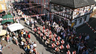 Altstadtfest Gernsbach 2014 Einmarsch Stadtkapelle