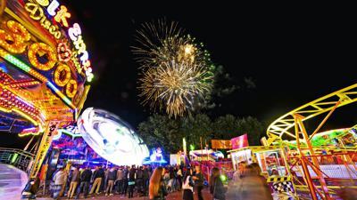 Herbstmesse Gaggenau  2013 Feuerwerk