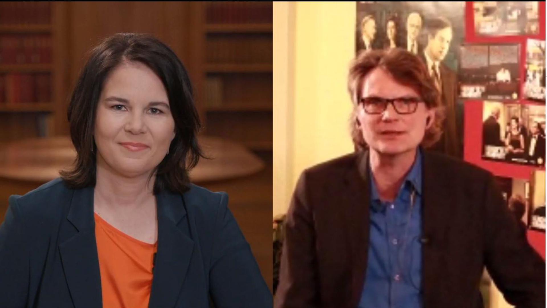 Zwei Politiker der Grünen im Livestream auf Facebook