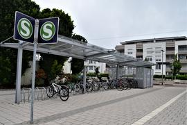 Fahrradständer am Bahnhof Gaggenau