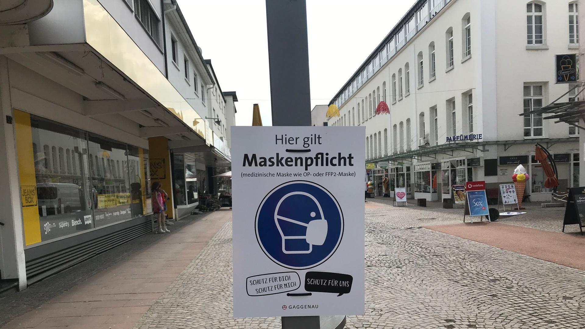 Plakat Maskenpflicht