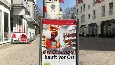 """Plakat """"Osterhase kauft"""""""