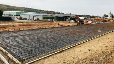 Im Bad Rotenfelser Industriegebiet entsteht ein neues DHL-Logistikzentrum.