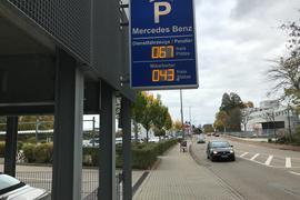 Daimler Benz-Werk Gaggenau Parkdeck Hauptstraße Oktober 2020