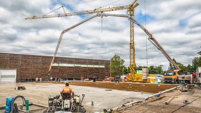 Baustelle am Unimog-Museum, Erweiterungsbau