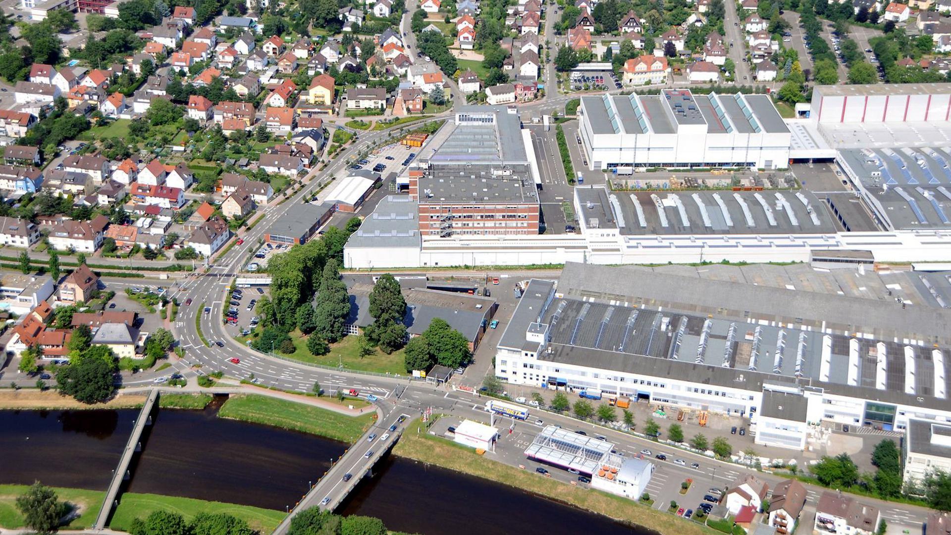 Luftbild Daimler Bau 60 Schillerstraße