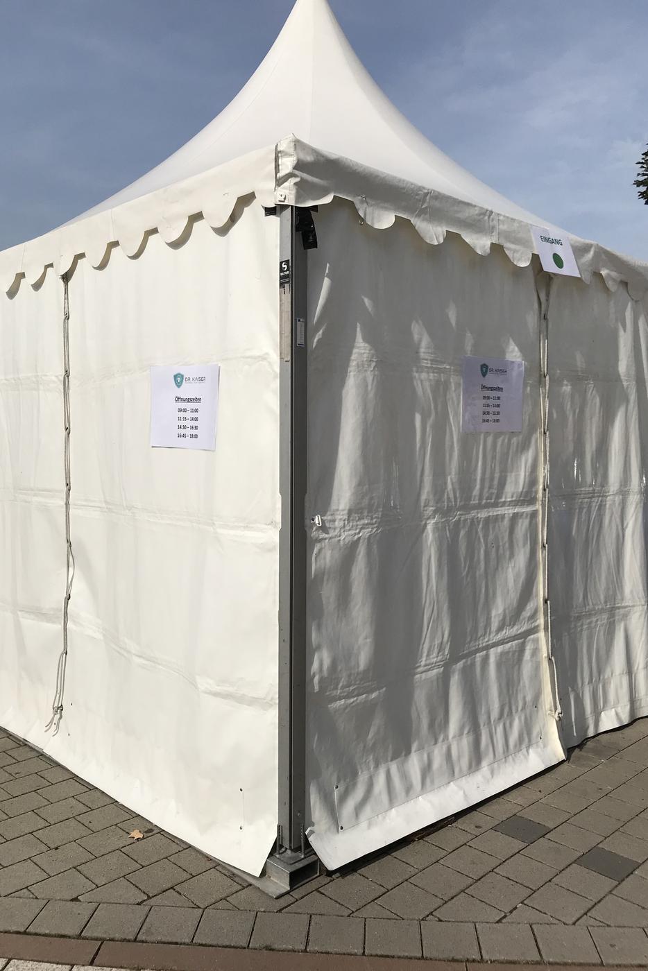 geschlossene Teststation in Gaggenau