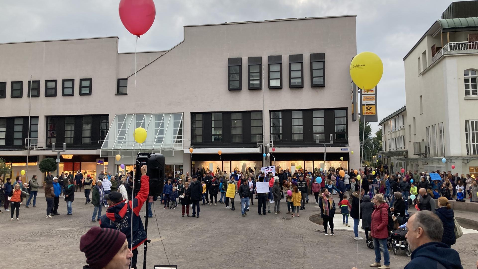 Demo auf dem Marktplatz in Gaggenau