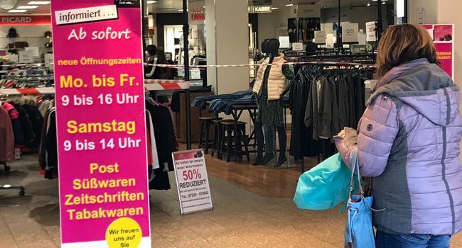 Nur ein Teilbereich darf öffnen: Die wirtschaftliche Situation des City-Kaufhauses Gaggenau, das zum Jahresende ein Insolvenzverfahren abschließen konnte, ist mehr als angespannt.