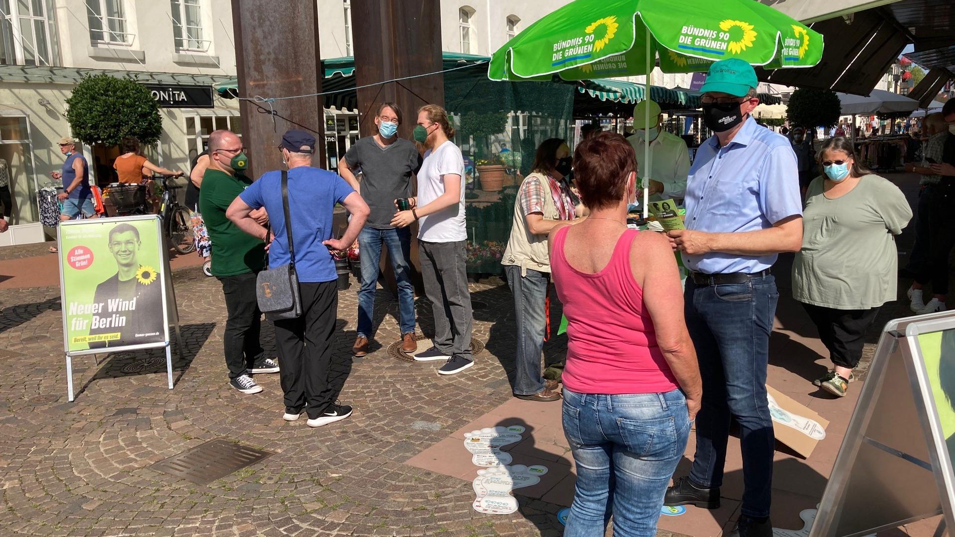 Wahlkampfstand der Grünen