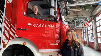 Michael Bracht und Daniela Lang von der Frewilligen Feuerwehr