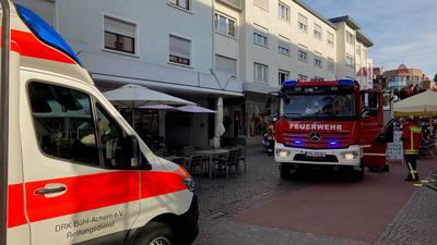 Feuerwehr in Fußgängerzone