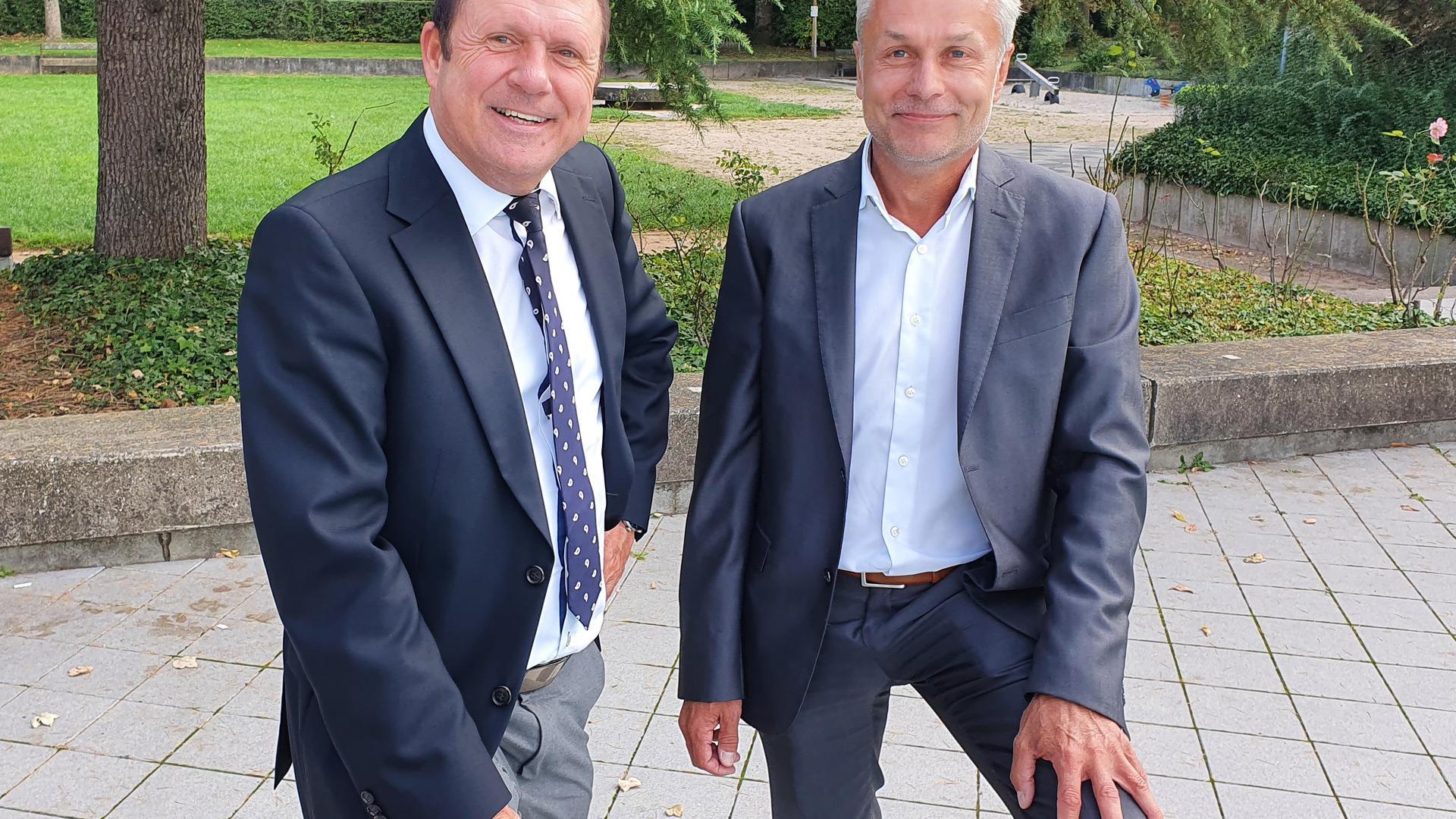 Rotherma-Geschäftsführer Wolfram Zahnen (links) und sein Nachfolger Jörg Zimmer