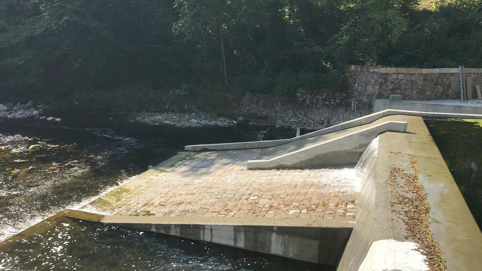 Zumindest eine Option: Sofern der Wildwasserverein Schwarzwald die Haftung übernimmt, dürfen die Kanufahren künftig die neue Bootsrutsche am Stauwehr Breitwies bei Forbach benutzen. Die Betreiber des Wasserkraftwerks haben sie vorsorglich mit eingebaut.