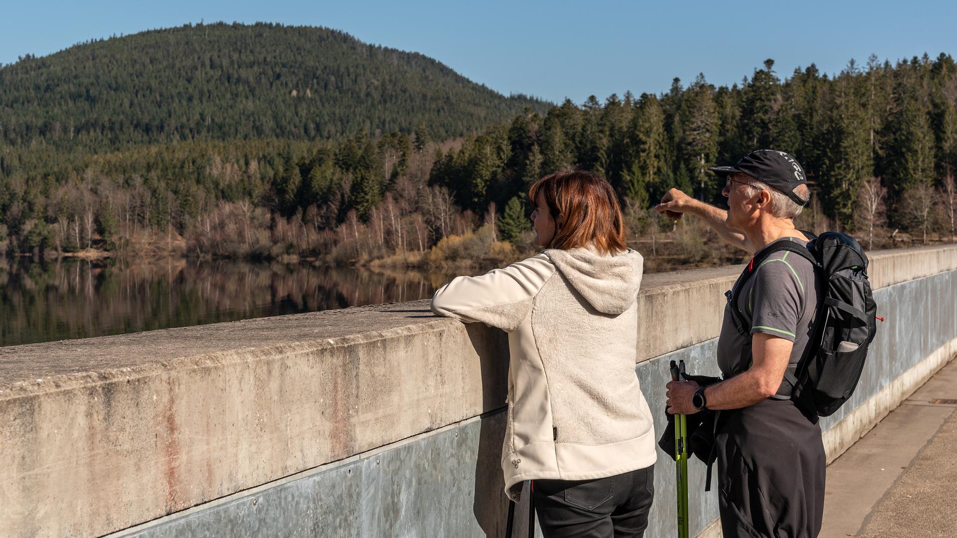 Frühlingsstimmung im Schwarzwald: Die Schwarzenbach-Talsperre und umliegende Wanderwege locken Ausflügler an.