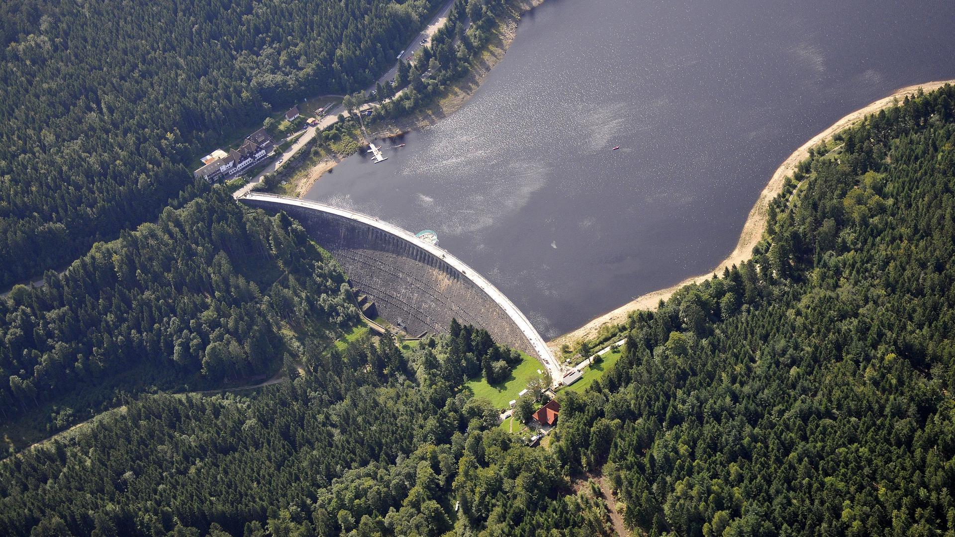 Schwarzenbach Talsperre Luftbild