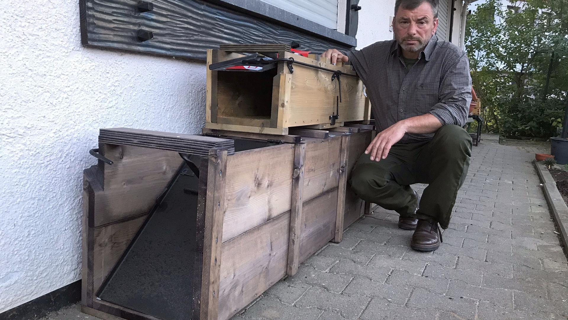 Der erste Stadtjäger im Kreis: Reinhold Gerstner aus Forbach-Langenbrand ist seit kurzem Ansprechpartner, wenn es Probleme mit Wildtieren im Siedlungsbereich gibt. Seine Hauptaufgabe sieht er jedoch in der Beratung und Konfliktlösung.