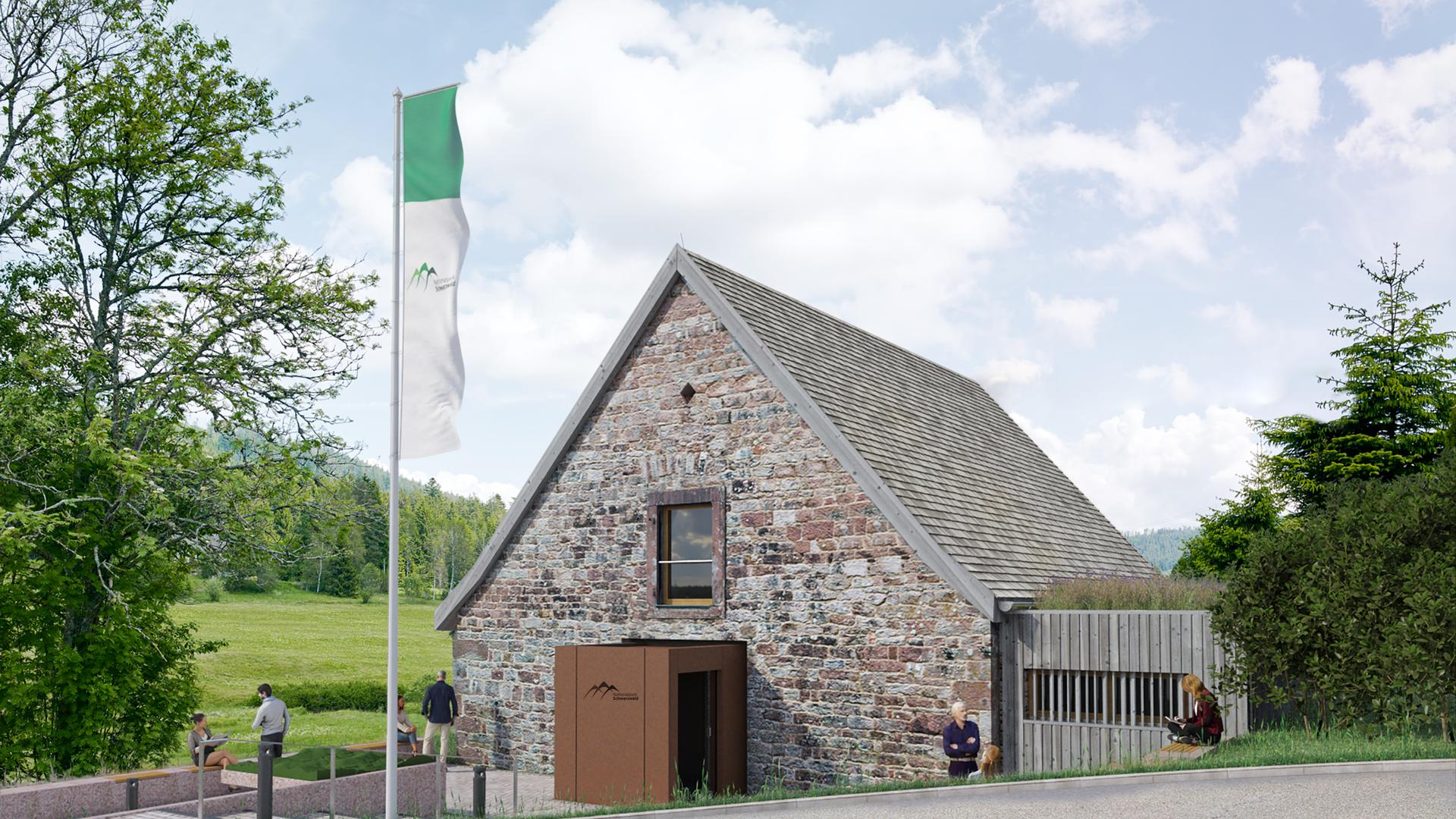 Visualisierung Nationalpark-Haus Forbach-Herrenwies