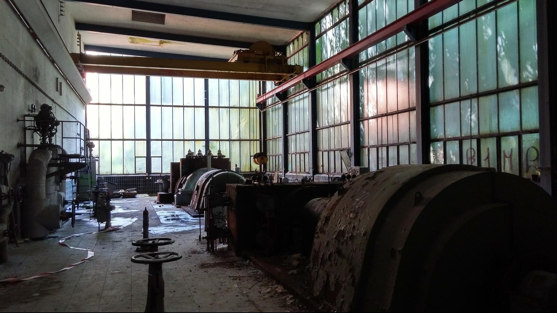 Eine alte Werkshalle auf dem Holtzmann-Areal in Forbach
