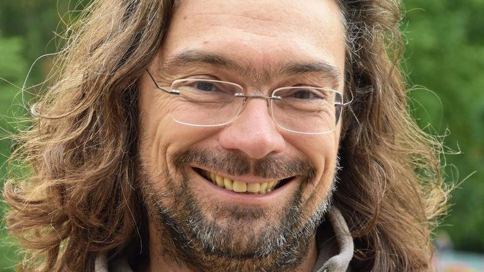 Wandert gern im Wind: Johannes Schell kommt extra aus Karlsruhe her.
