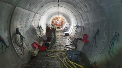 Rettungsstollen im Gernsbacher Tunnel im Bau