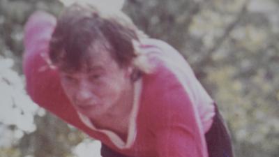Leichtathlet Norbert Götz aus Gernsbach bei einem Lauf 1970
