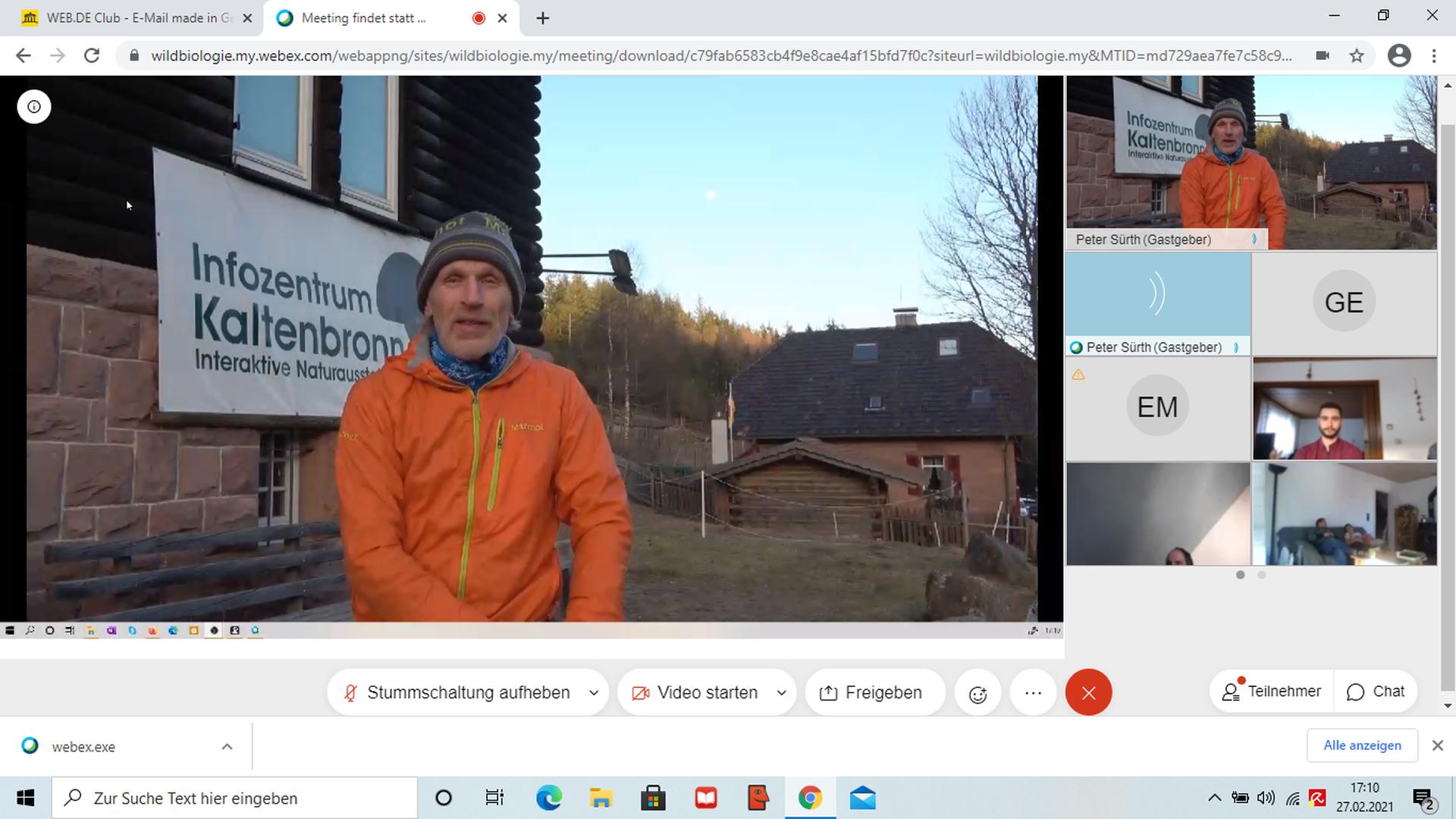 Ein Experiment: Zum ersten Mal hat der Wildtierforscher Peter Sürth seine Vollmondwanderung am Kaltenbronn virtuell angeboten. Normalerweise geht er gemeinsam mit den Teilnehmern in den Wald.