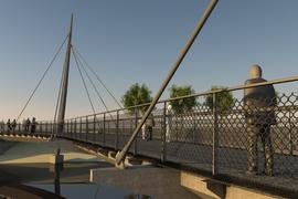 Visualisierung neue Radwegbrücke in Weisenbach