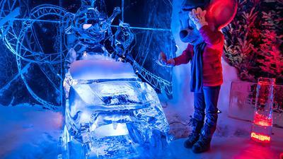 Eisskulpturen-Ausstellung im Europa-Park
