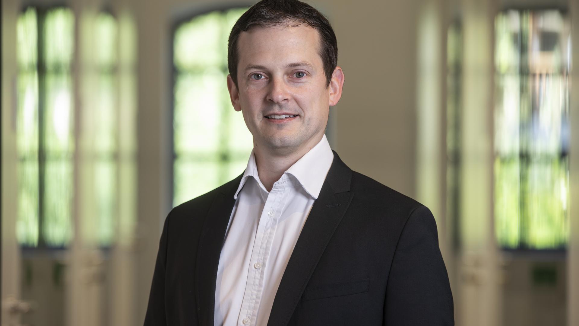 Porträtbild von Bürgermeister Christian Huber