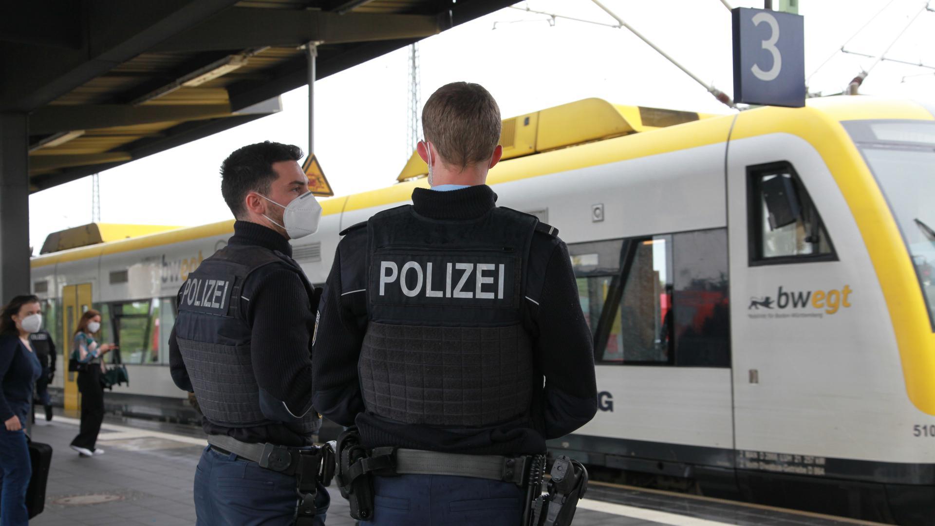 Bundespolizei am Kehler Bahnhof